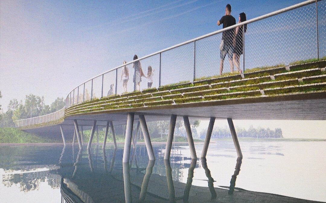 Almeerse reststromen geven karakter aan circulaire bruggen op Floriadeterrein