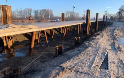 """De circulaire bruggen """"Rondje Weerwater"""" en """"Beverbrug"""" zijn volop in aanbouw"""